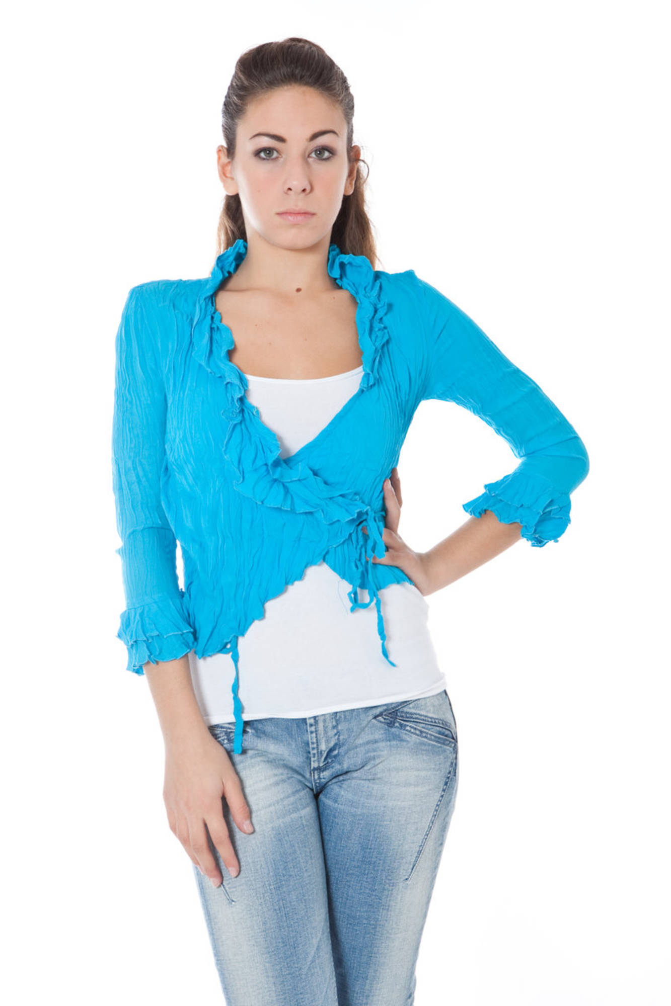 Košile PHARD košile s dlouhým rukávem BLU