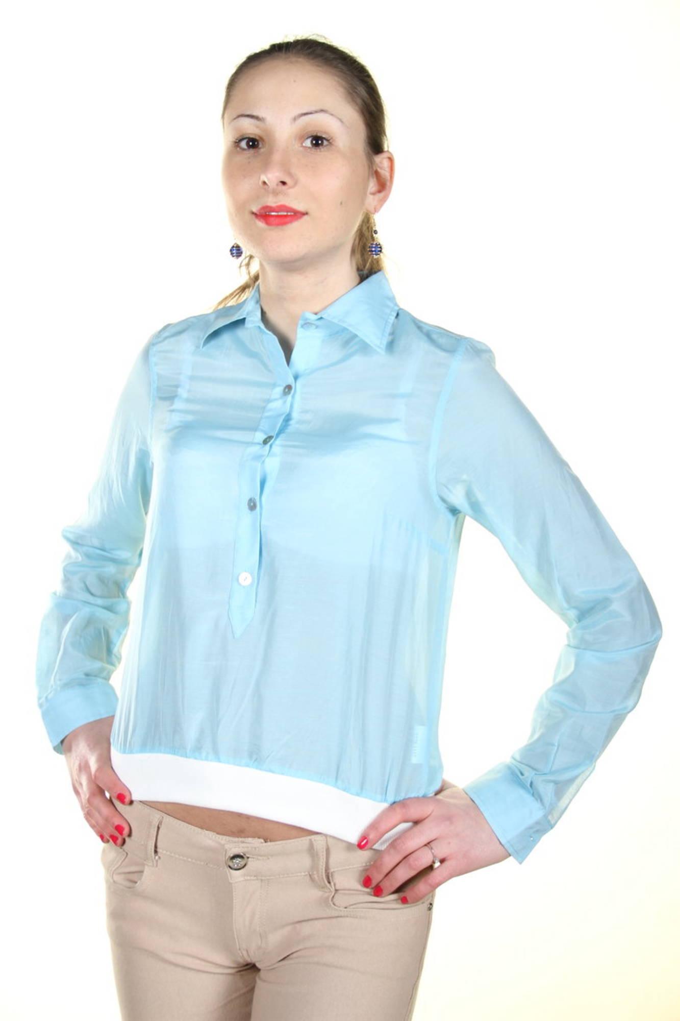 Košile I AM košile s dlouhým rukávem AZZURRO