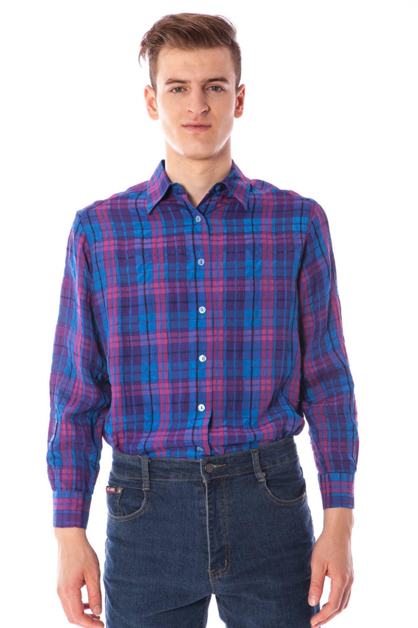 LINEA VERDE košile s dlouhým rukávem BLU