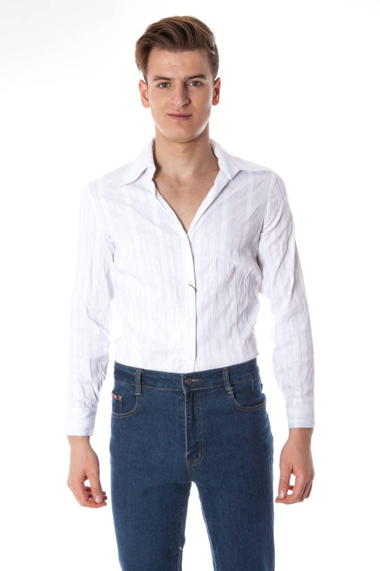 Košile ELISA LANDRI PIU' košile s dlouhým rukávem BIANCO
