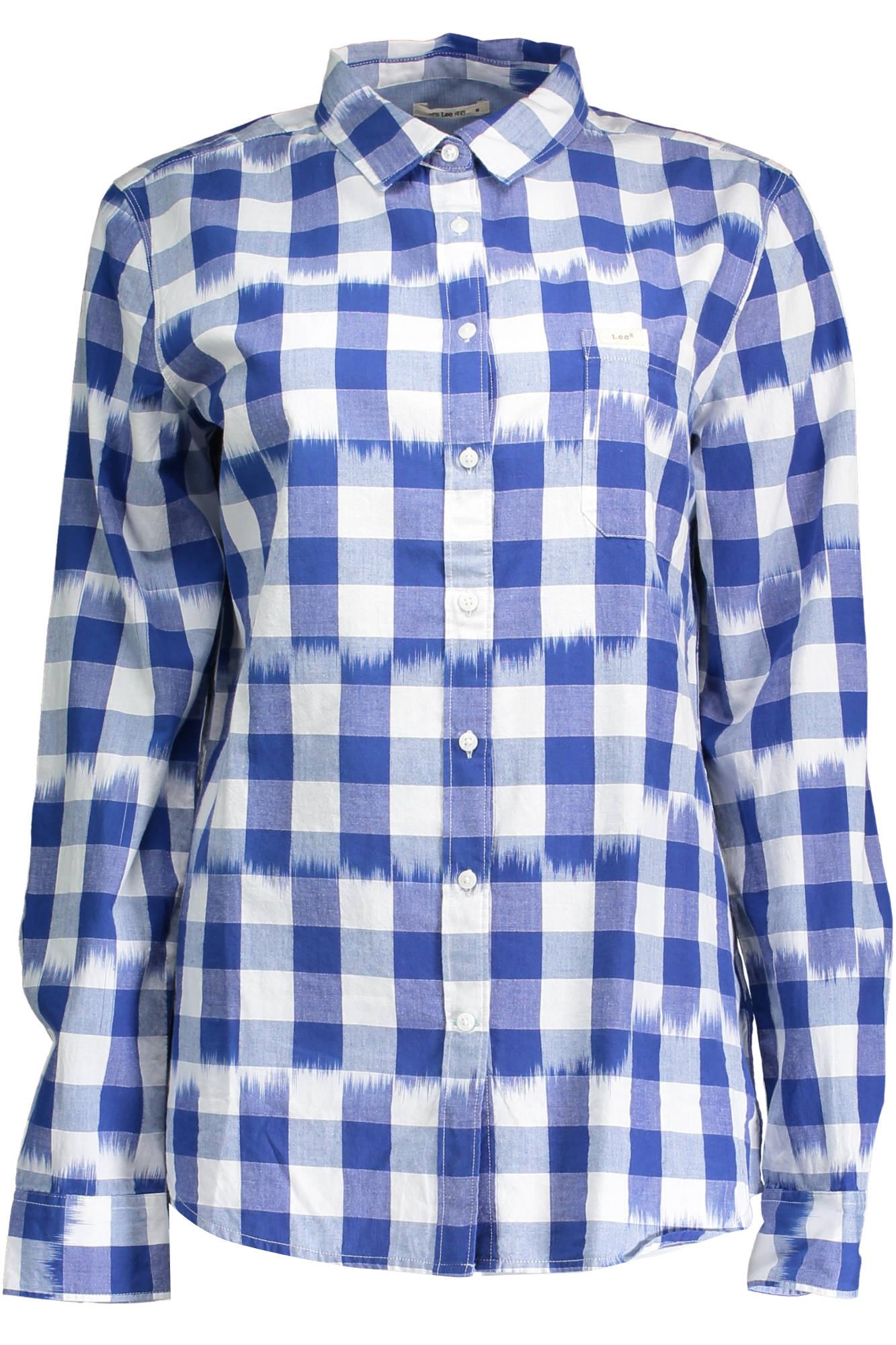 Košile LEE košile s dlouhým rukávem BLU