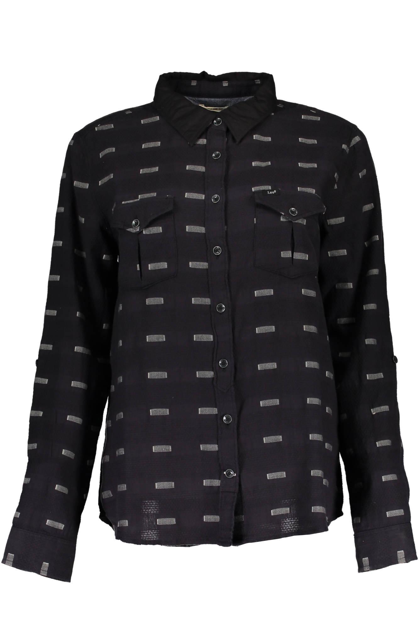 Košile LEE košile s dlouhým rukávem NERO