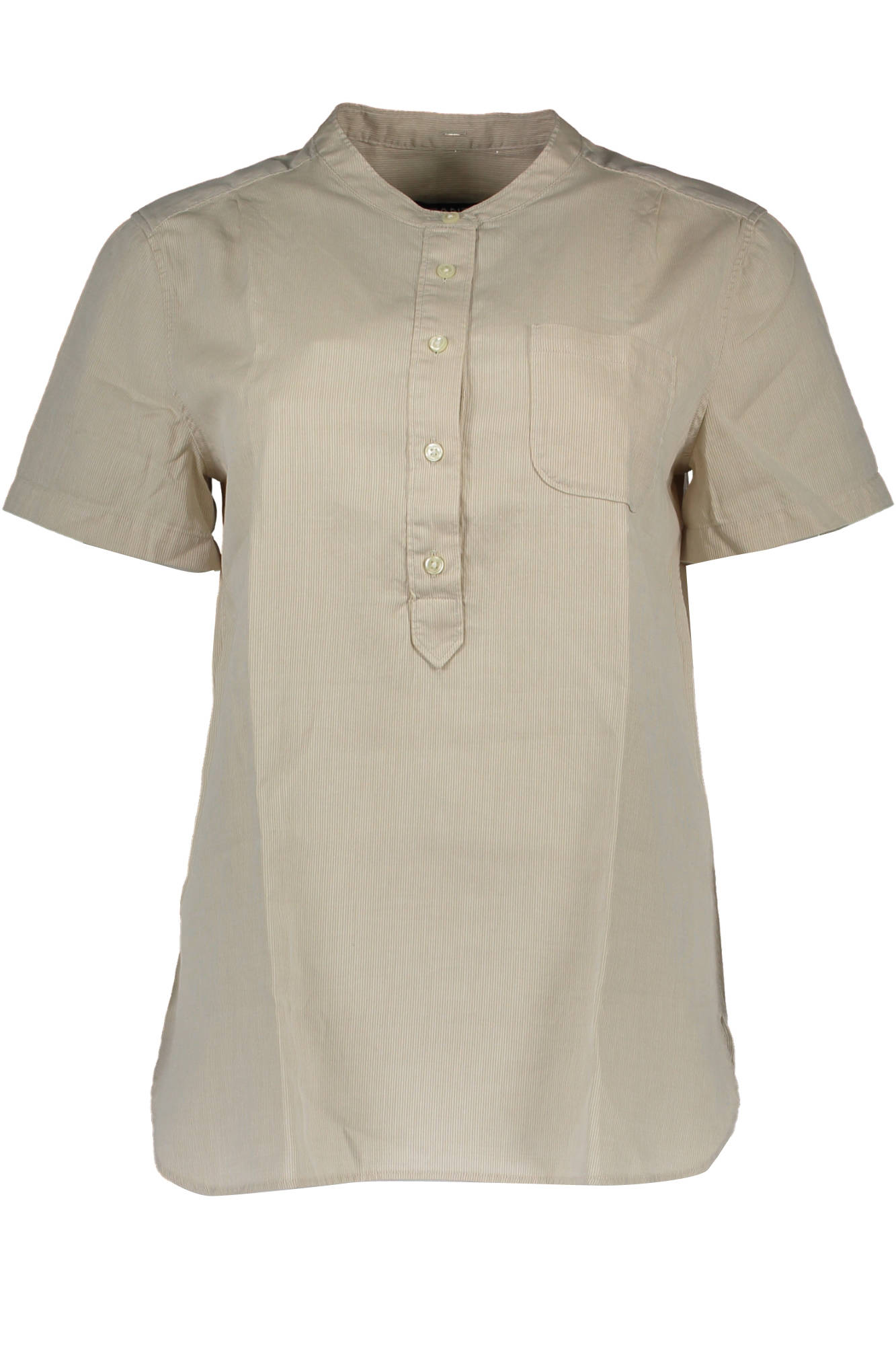 Košile GANT košile s krátkým rukávem BEIGE