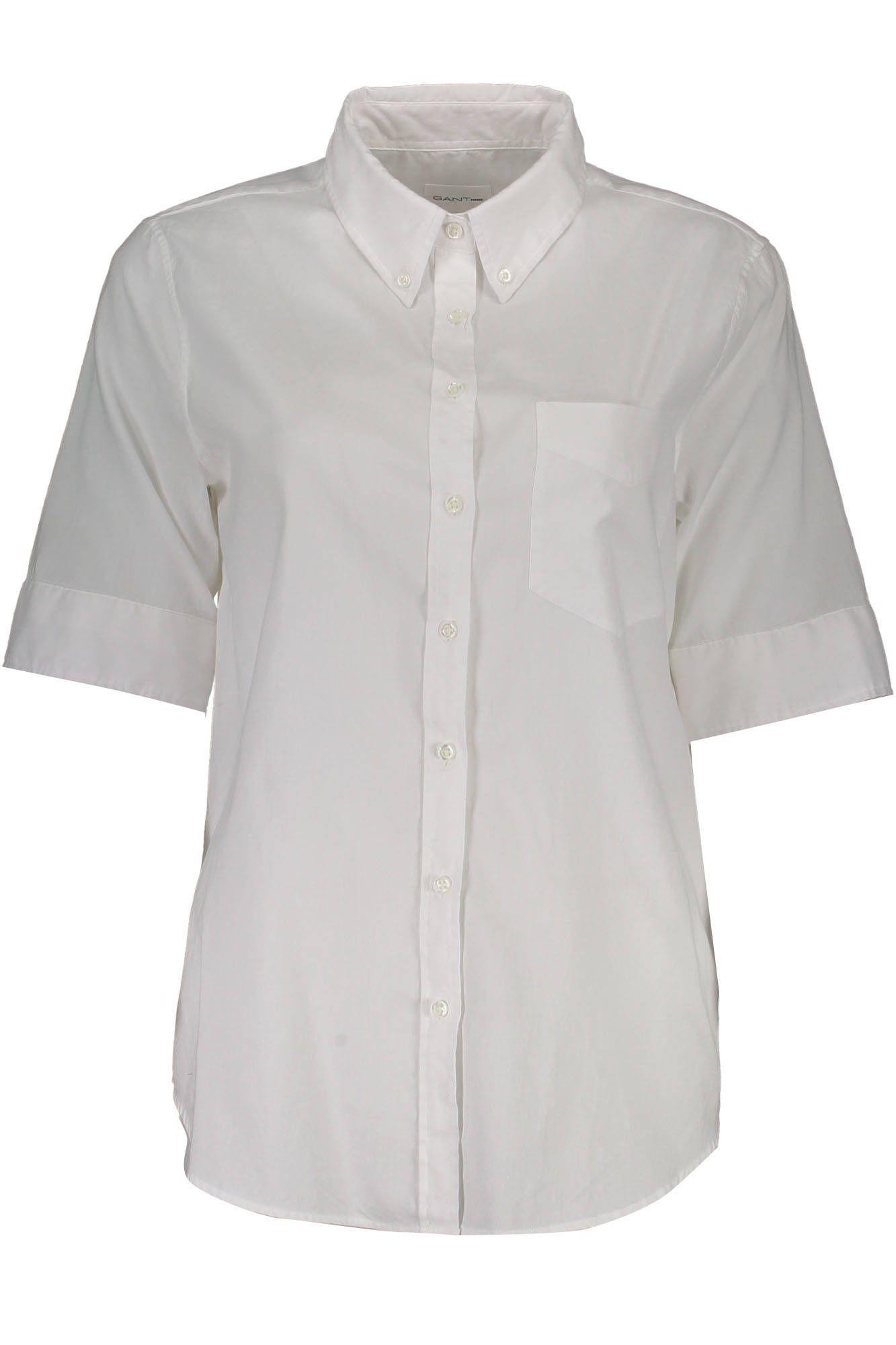 Košile GANT košile s krátkým rukávem BIANCO