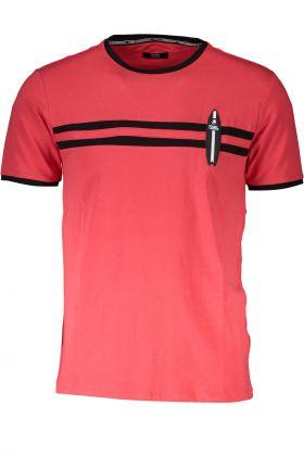 Karl lagerfeld beachwear t-shirt maniche corte rosso