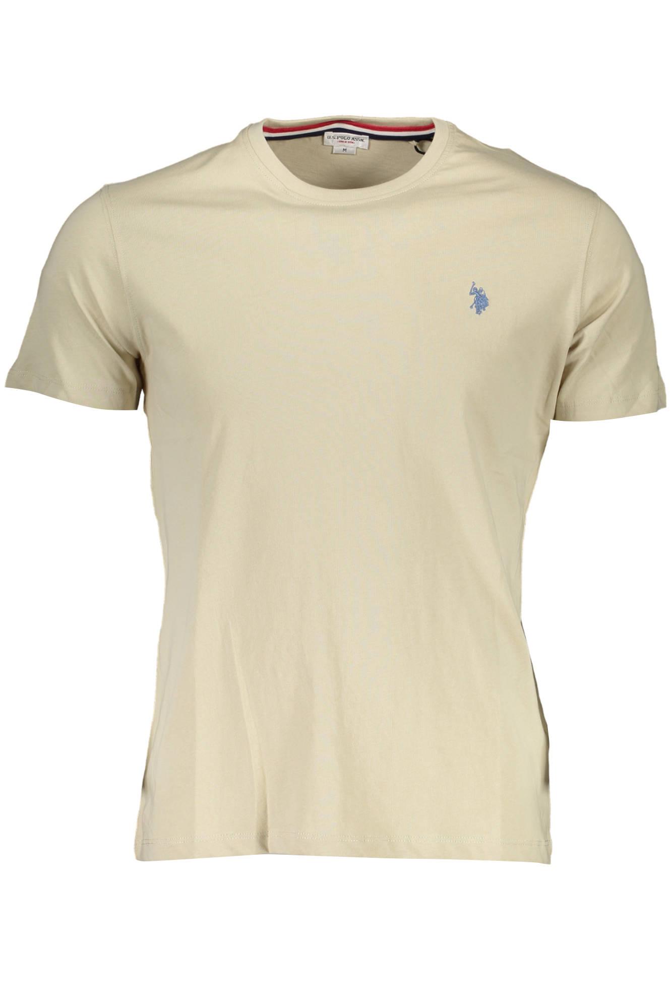 Tričko U.S. POLO tričko s krátkým rukávem BEIGE