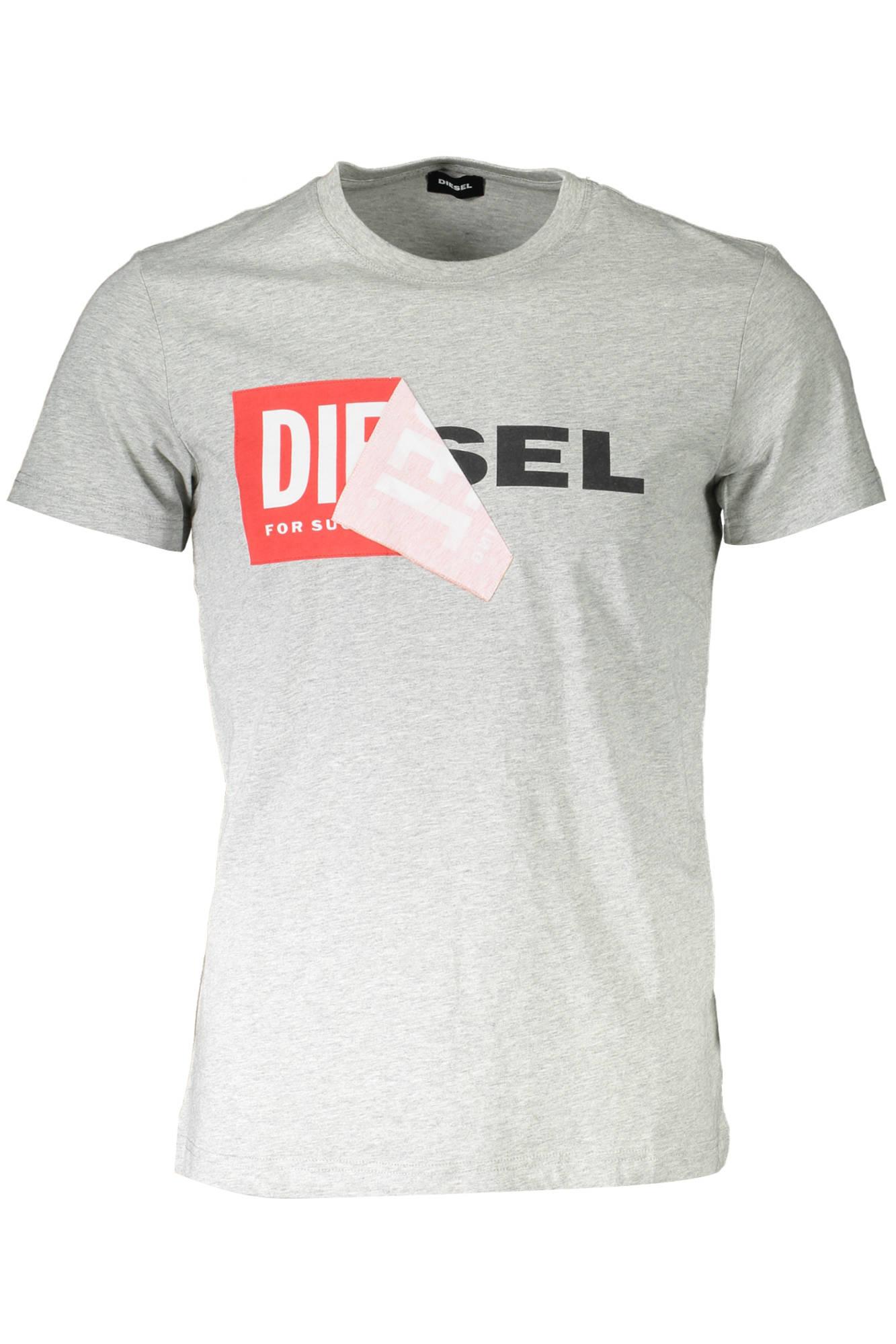 Tričko DIESEL tričko s krátkým rukávem GRIGIO