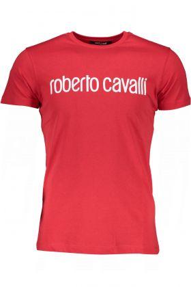 Roberto cavalli t-shirt maniche corte rosso