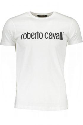 Roberto cavalli t-shirt maniche corte bianco