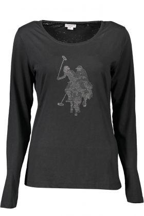 U.s. polo t-shirt maniche lunghe nero