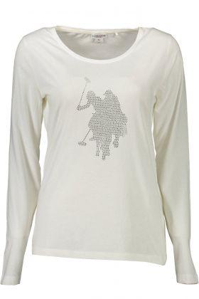 U.s. polo t-shirt maniche lunghe bianco