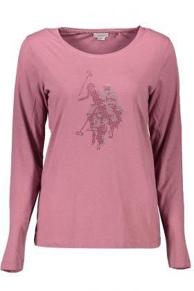 U.s. polo t-shirt maniche lunghe viola
