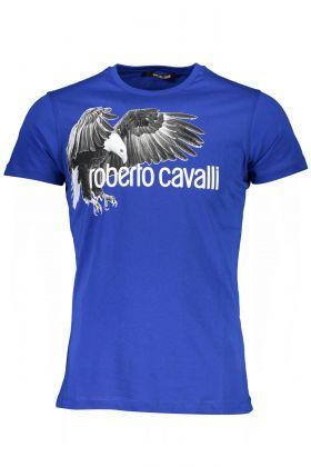 Roberto cavalli t-shirt maniche corte blu