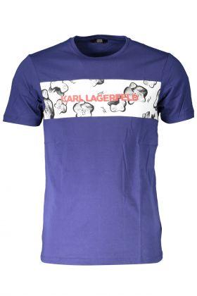 Karl lagerfeld beachwear t-shirt maniche corte blu