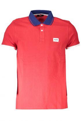 Karl lagerfeld beachwear polo maniche corte rosso