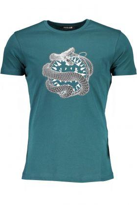 Roberto cavalli t-shirt maniche corte verde